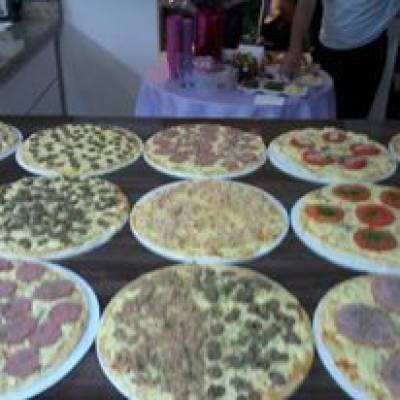 Pizza no Litoral